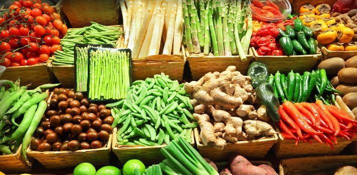 Verduras y legumbres abundan en estas ciudades
