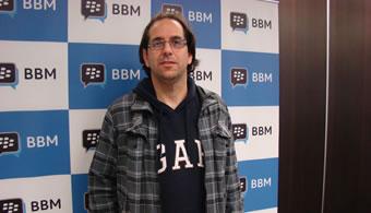 Julián Custodio, uno de los ganadores de la beca BBmessenger.