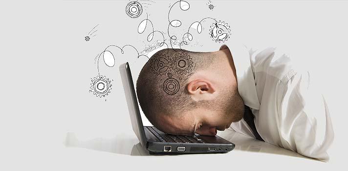 A saturação digital eventualmente leva ao bloqueio, cansaço e stress.
