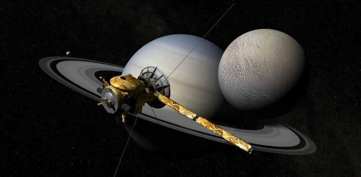 Se descubre agua en una de las lunas de Saturno
