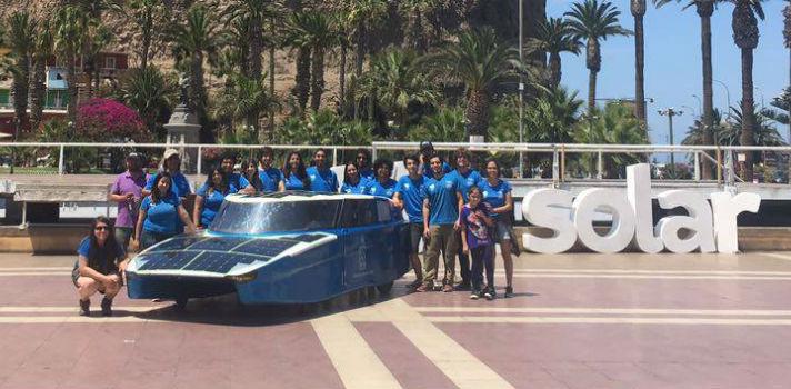 El auto solar de la Universidad de Chile recorre la mitad del país utilizando sólo energía solar
