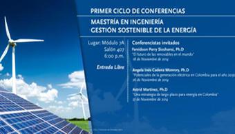 Se realizará el Primer Ciclo de Conferencias de la Maestría en Ingeniería-Gestión Sostenible de la Energía