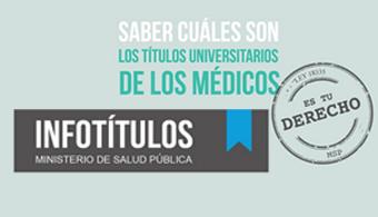 Infotítulos: una plataforma para comprobar la validez de los títulos universitarios en medicina