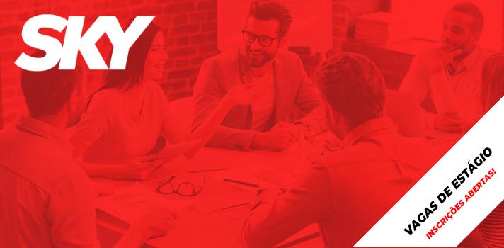 <p dir=ltr><span>Se você é uma pessoa conectada, focada em resultado e com espírito empreendedor, não importa o curso que você está fazendo, a SKY tem uma vaga de estágio para você! </span></p><b><b><br/></b></b><p dir=ltr><span>A SKY é líder de mercado graças ao pioneirismo, inovação constante, tecnologia de ponta, qualidade dos serviços e, com certeza, porque possuímos </span><span>o melhor time do mercado</span><span>!</span></p><b><b><br/></b></b><p dir=ltr><span>Em 2015, a SKY passou a fazer parte do grupo AT&T, a maior empresa de telecomunicações e TV por assinatura via satélite do mundo, fortalecendo a sua atuação na América Latina. A AT&T tem hoje 280 mil funcionários em vários países, e possui políticas globais de alto padrão, disseminadas por todas as empresas do grupo, tornando-as mais fortes e coesas.</span></p><b><b><br/></b></b><p dir=ltr><span>Conheça a Missão, a Visão, os Valores e os Princípios da SKY:</span></p><b><b><br/></b></b><p dir=ltr><strong>MISSÃO</strong></p><p dir=ltr><span>Combinar conteúdo diversificado e atrativo, tecnologia e serviço que façam da SKY</span></p><p dir=ltr><span>a melhor opção para os consumidores.</span></p><b><b><br/></b></b><p dir=ltr><strong>VISÃO</strong></p><p dir=ltr><span>Fazer da SKY a melhor experiência em vídeo do mundo quando e onde você quiser.</span></p><b><b><br/></b></b><p dir=ltr><strong>VALORES</strong></p><p dir=ltr><span>Liderança, Inovação, Determinação, Agilidade, Trabalho em Equipe e Integridade.</span></p><b><b><br/></b></b><p dir=ltr><strong>PRINCÍPIOS</strong></p><p dir=ltr><span>Foco total no cliente. Na SKY tudo é simples, rápido e fácil:</span></p><p dir=ltr><span>retrabalho zero, menos é mais, meritocracia e trabalho em equipe.<br/><br/></span></p><p dir=ltr><strong>Se inscreva hoje mesmo em uma das vagas abaixo! </strong></p><p dir=ltr><br/>Vaga de Estágio - SUPPLY CHAIN</p><p dir=ltr><a href=https://www.universiaemprego.com.br/empregos/vaga/537992/Vaga-de-Estagio-Supply-Chain---SKY.html><