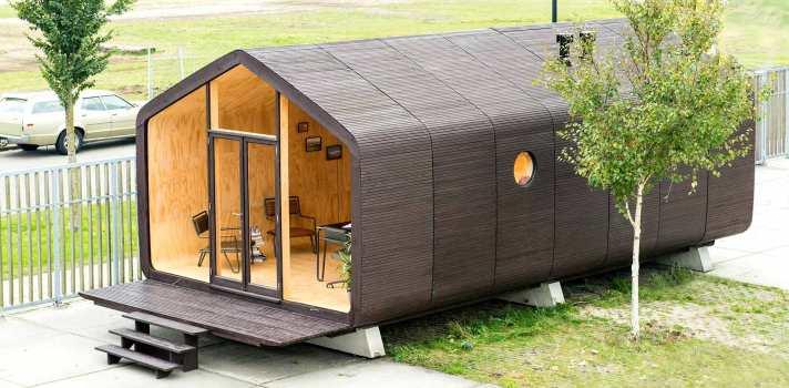 Wikkelhouse: la casa de cartón que puede durar hasta 100 años