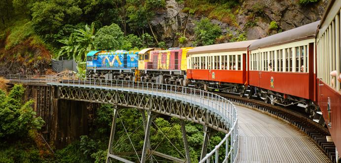 Tren a Kuranda