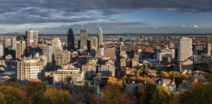 Panorámica de Montreal desde Mont-Royal.
