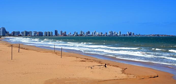 Playa en Punta del Este