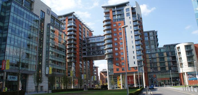 Área de Spinningfields en Manchester