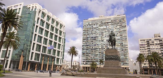 Plaza Independencia de Montevideo