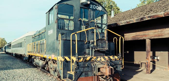 Viejo tren en Sacramento