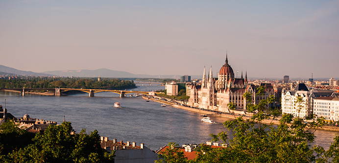 Vista panorámica del Danubio