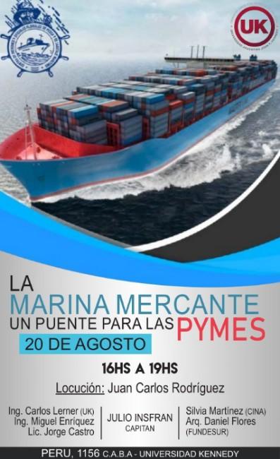 <p dir=ltr><span>Expondrán: El Capitán Julio González Insfrán, Secretario General del Centro de Patrones y Oficiales de Pesca y de Cabotaje Marítimo junto al Ingeniero Miguel Lerner de la Universidad Kennedy.</span></p><p dir=ltr><span>También participará la Licenciada Silvia Martínez</span><span>Titular de la Cámara de la Industria Naval Argentina (</span><span>CINA) -entidad que nuclea a astilleros, talleres, empresas navales partistas y de logística - y el Arquitecto Daniel Flores de FUNDESUR (Fundación para el desarrollo del Sur Argentino).</span></p><p dir=ltr><span>El objetivo de la misma es dar a conocer a las futuras generaciones y a las pequeñas y medianas empresas la importancia de la Marina Mercante y la Industria Naval.</span></p>
