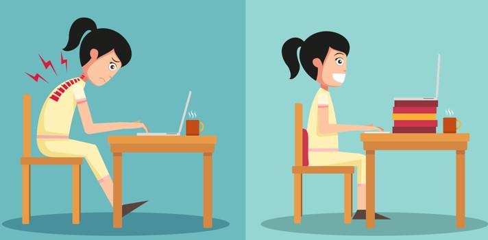 Cuida tu postura y realiza actividad física