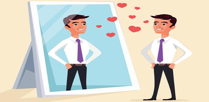 Pessoas narcisistas são apaixonadas por si mesmas.