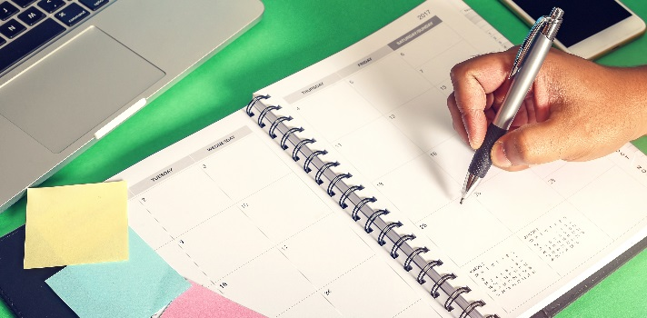 Organize o seu espaço e o seu tempo para que suas tarefas sejam realizadas de forma eficaz