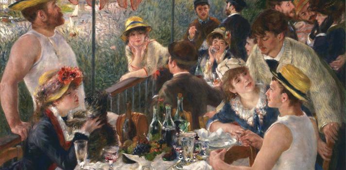 Arte do Dia: Almoço dos Barqueiros de Renoir