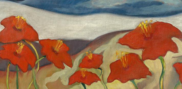 Arte do Dia: Paisagem com Flores (Nirvana) de Zoltán Palugyay