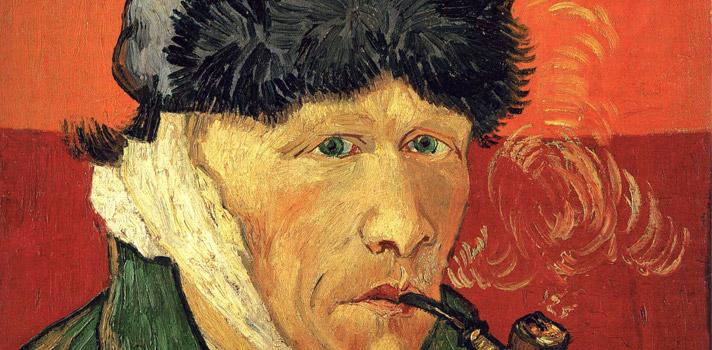 Arte do Dia: Auto-retrato com uma Orelha Enfaixada e um Cachimbo de Vincent Van Gogh