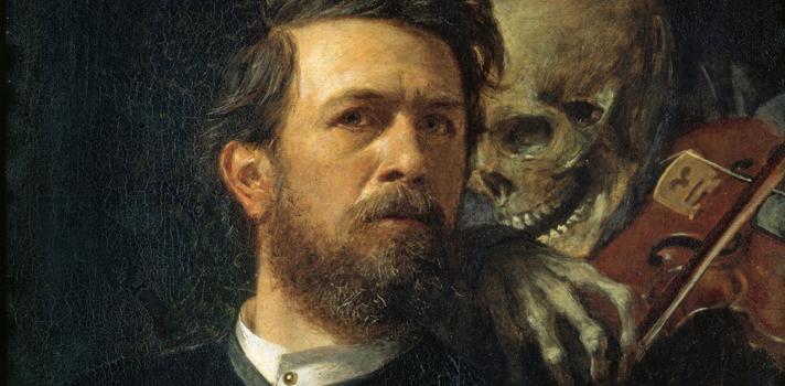 Arte do Dia: Autorretrato com a Morte Tocando Violino de Arnold Böcklin