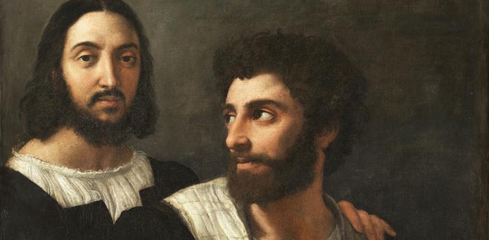 Arte do Dia: Autorretrato com um Amigo de Rafael