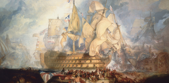 Arte do Dia: A Batalha de Trafalgar de Joseph Mallord William Turner