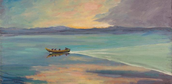 Arte do Dia: Calma Plena em Barco de Proa Alta de Winston Churchill