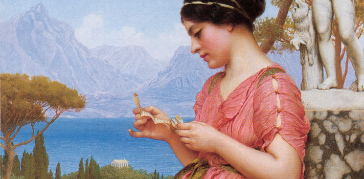 Arte do Dia: Carta de Amor de John William Godward
