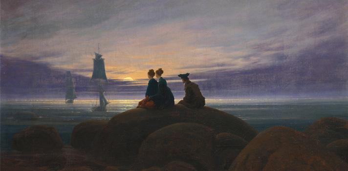 Arte do Dia: Nascer da Lua Sobre o Mar de Caspar David Friedrich
