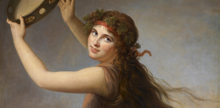 Arte do Dia: Lady Hamilton como uma Bacante de Elisabeth Vigee le Brun