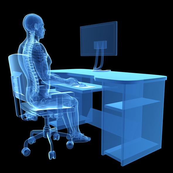 As preocupações ergonómicas estão relacionadas com a prevenção de doenças profissionais.