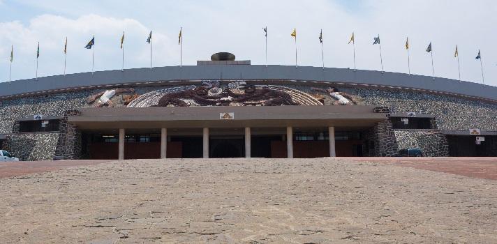 Fachada del Estadio Olímpico de la UNAM