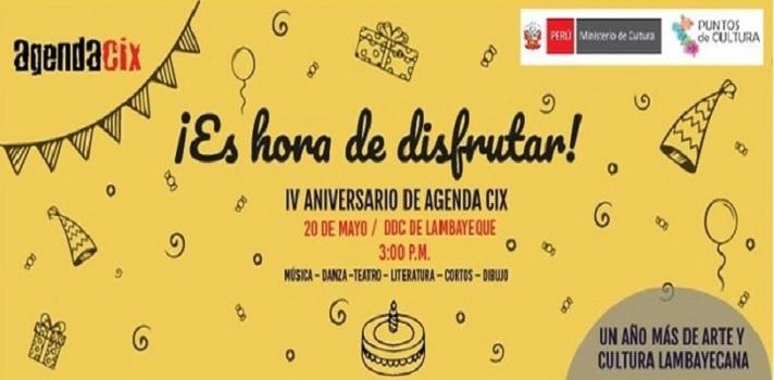 Agenda CIX te invita a celebrar su 4° aniversario