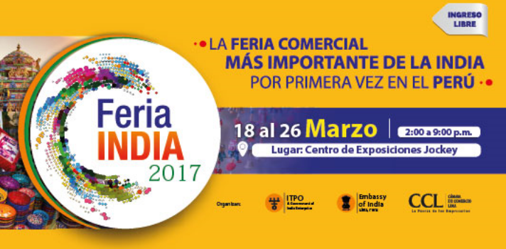 Del 18 al 26 de marzo tendrá lugar la Feria India 2017 en el Centro de Exposiciones Jockey.
