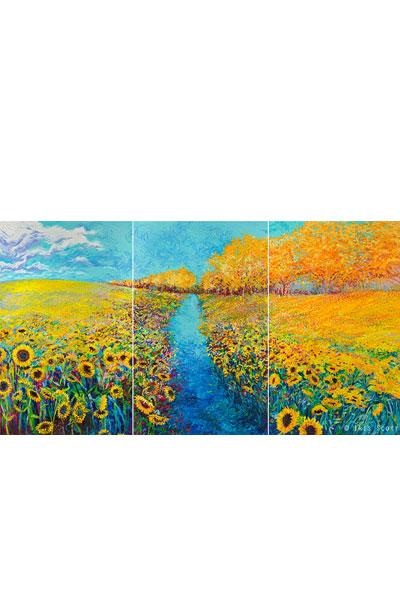 sunflower-triptych-iris-scott
