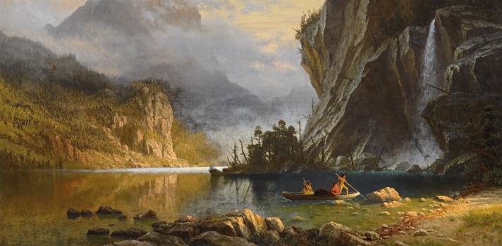 Arte do Dia: Índios Pescando de Albert Bierstadt