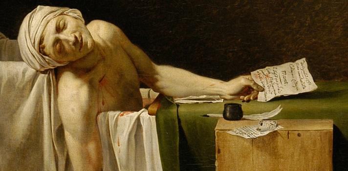 Arte do Dia: Morte de Marat de Jacques Louis David