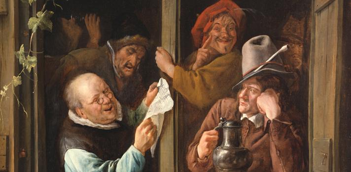Arte do Dia: Retóricos na Janela de Jan Steen