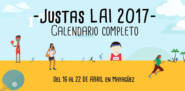 Justas LAI 2017: calendario completo del festival deportivo