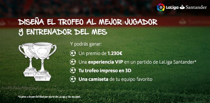 Diseña el Trofeo al Mejor Jugador y Entrenador de LaLiga Santander.