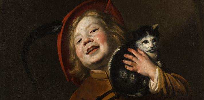 Arte do Dia: Menino com um gato de Judith Leyster