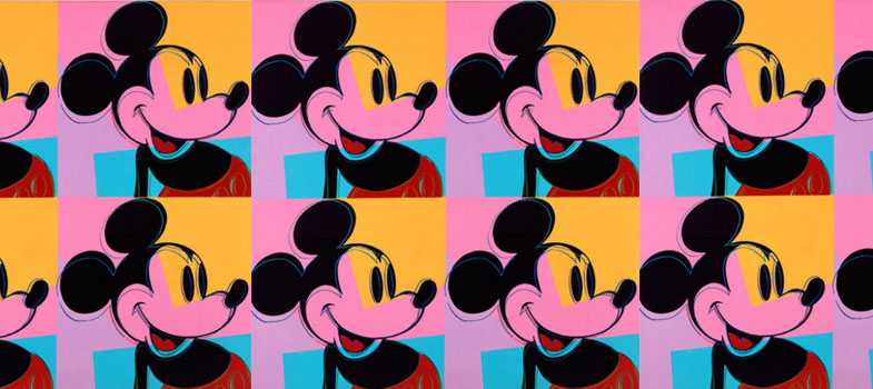 Quadrant Mickey Mouse de Andy Warhol