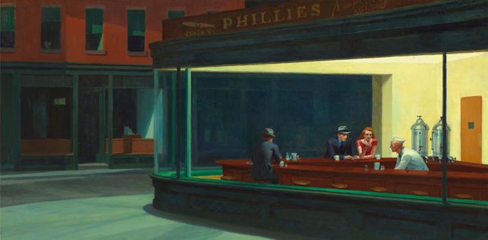 Arte do Dia: Nighthawks de Edward Hopper