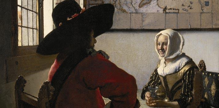 Arte do Dia: Oficial e Moça Sorridente de Johannes Vemeer
