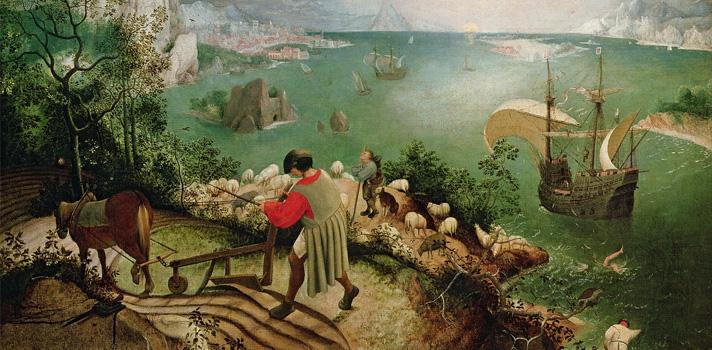 Arte do Dia: Paisagem com a Queda de Ícaro de Pieter Bruegel