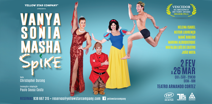 Universia e Yellow Star Company levam fãs ao teatro: Vanya e Sonia e Masha e Spike