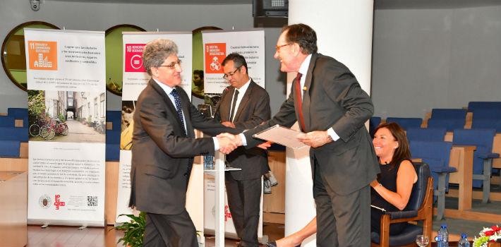 Alejandro Tiana Ferrer y Matías Rodríguez Inciarte presidieron el I Día Internacional de la Investigación UNED-Banco Santander