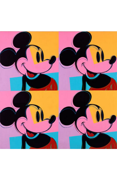 Quadrant Mickey Mouse de Andy Warhoi