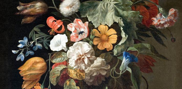 Arte do Dia: Natureza Morta com Flores de Rachel Ruesch