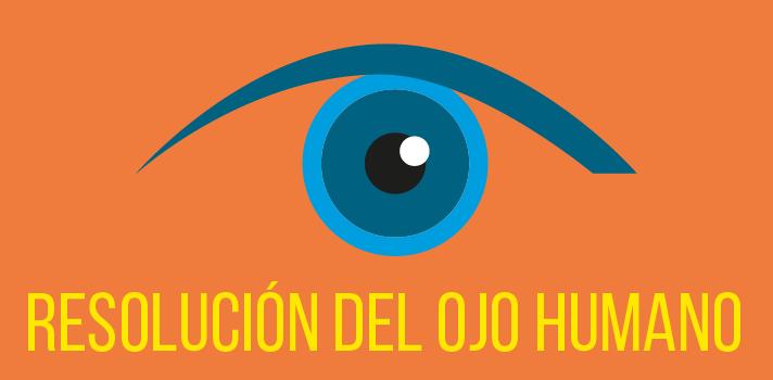 Cuál es la resolución del ojo humano?
